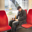 Stock Photo: Man inside dutch metro