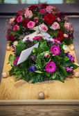 Flower arrangement  for funeral — Stock Photo