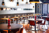 Interior of new restaurant — Stock Photo