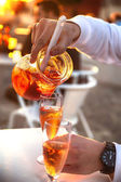 Drink at beach restaurant  — Stock Photo