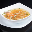 Japanese soup, studio shot — Stock Photo