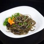 Dish with seaweed — Stock Photo