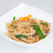 Japanese noodles with seafood — Stock Photo