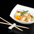 Japanese noodles with seafood — ストック写真