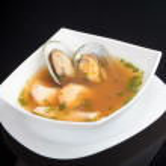 Japanese soup, studio shot — Stock Photo