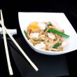 Japanese noodles with seafood — Stock Photo #13291929