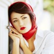 Beautiful young girl in retro style — Stock Photo #13805302