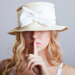Beautiful young girl in a hat — Stock Photo #13805265