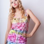 Beautiful blonde fashion model — Stock Photo #13805413
