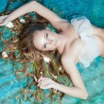 Mermaid, closeup portrait, studio shot — Stock Photo