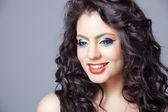 Beautiful indian girl with creative makeup — Stock Photo