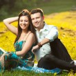 Beautiful couple in park — Stock Photo #17886665
