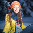 Beautiful winter portrait — Stock fotografie