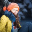 Beautiful winter portrait — Foto Stock