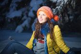 Mooie winter portret — Stockfoto