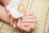 Beautiful human hand, spa — Stock Photo
