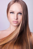 Beautiful hair, portrait of an young girl — Stock Photo