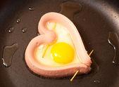 Fried heart — Stock Photo