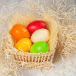 Easter eggs in the basket — Stock Photo #23511007