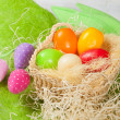 Easter eggs in the basket — Stock Photo #23511011