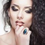 Portrait of glamour woman, closeup shot — Stock Photo