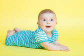 Beautiful baby boy in studio — Stock Photo