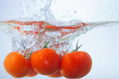 Tomat drop, studio shot — Stock Photo