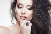 Portrait von frau glamour, closeup, erschossen — Stockfoto