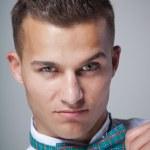 Portrait of a handsome stylish man — Stock Photo