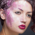 Fashion makeup, closeup studio shot — Stock Photo