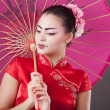 Fashion geisha in studio — 图库照片