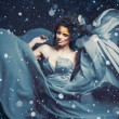 Foto Stock: Snow Queen, creative closeup portrait
