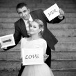 Bride and groom — Lizenzfreies Foto