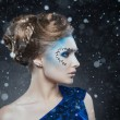 Snow Queen, creative closeup portrait — Stock Photo #33903757