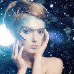 Snow Queen, creative closeup portrait — Stock Photo