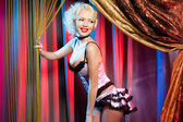 Cabaret dancer — Stock Photo