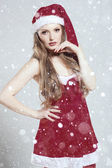 Beautiful christmas woman — Stock Photo