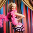 Fashion cabaret dancer — Stock Photo