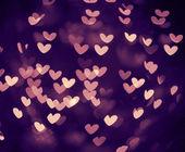 Bokeh hearts — Stock Photo