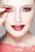 Valentine's day, creative portrait — Stock Photo