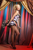 Fashion cabaret dancer — Stock Photo