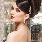 Beautiful and fashion bride in luxury interior — Stock Photo #41235855