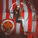 Fashion acrobat woman in circus — Stock Photo #41271129