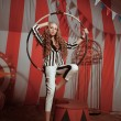 Stock Photo: Fashion acrobat womin circus