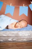 Beautiful sleeping newborn baby — Stock Photo