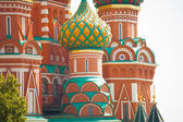 Moscow Red Square - St. Basil's Cathedral — Stock Photo