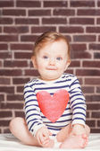 Closeup portrait of beautiful baby girl , studio shoot — Foto de Stock