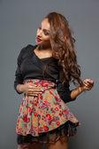 Moda y sexy mujer joven africana, sesión de estudio — Foto de Stock
