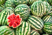 Organic Ripe Watermelon Heap — Stock Photo