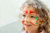 Little Girl With Face Paint — Stock Photo